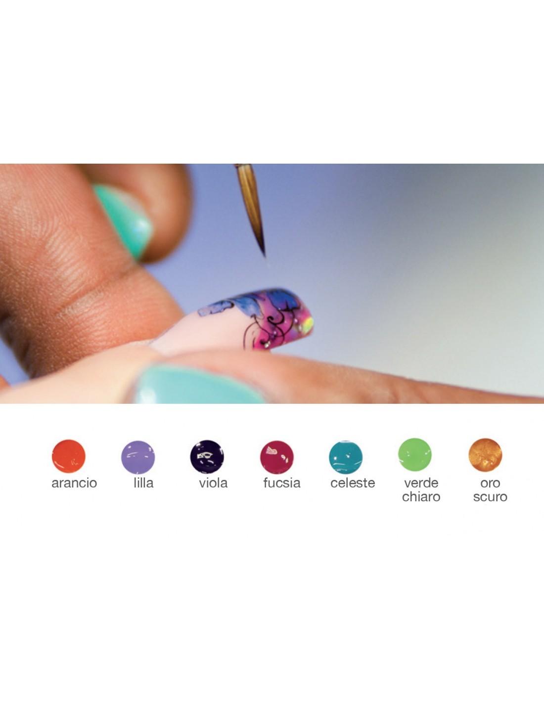 Kit n 2 colori acrilici ad acqua per micropittura diva - Diva nails prodotti ...