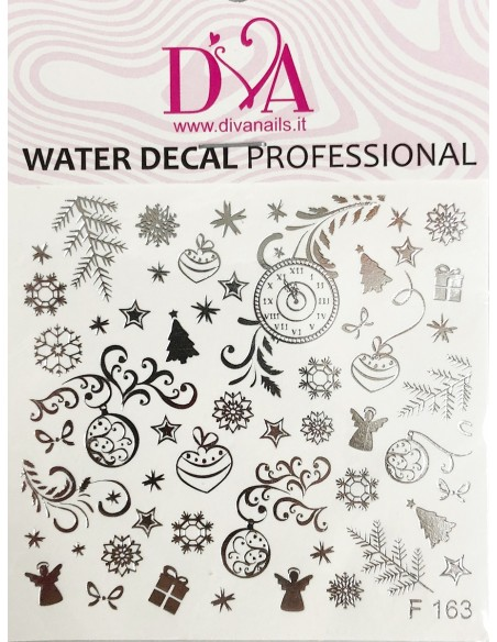 Water Decal Diva F163 ARGENTO