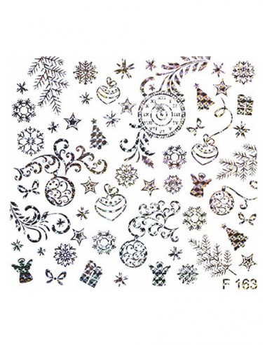 Water Decal Diva F163  HOLO ARGENTO