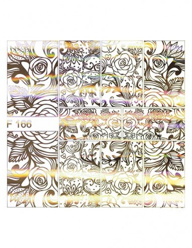 Water Decal Diva F166 HOLO ORO